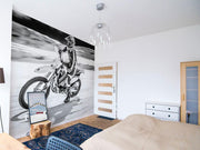 Motor Bike Rider Wall Mural-Sports-Eazywallz