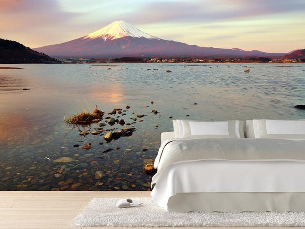 Mount Fuji at dawn Wall Mural-Buildings & Landmarks,Landscapes & Nature-Eazywallz