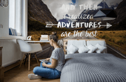 Mountain Adventures Quote Wall Mural-Landscapes & Nature-Eazywallz