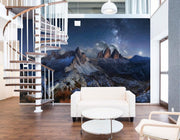 Mountain Landscape in Night Sky Wall Mural-Landscapes & Nature-Eazywallz