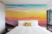 Mountain Wave Sunrise Wall Mural-Landscapes & Nature-Eazywallz