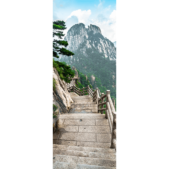 Mountains in China Door Mural-Landscapes & Nature-Eazywallz
