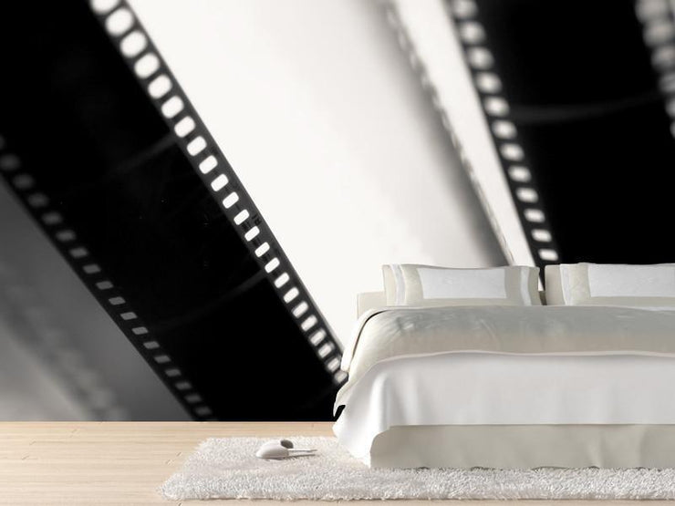 Movie filmstrips Wall Mural-Arts,Black & White,Macro-Eazywallz
