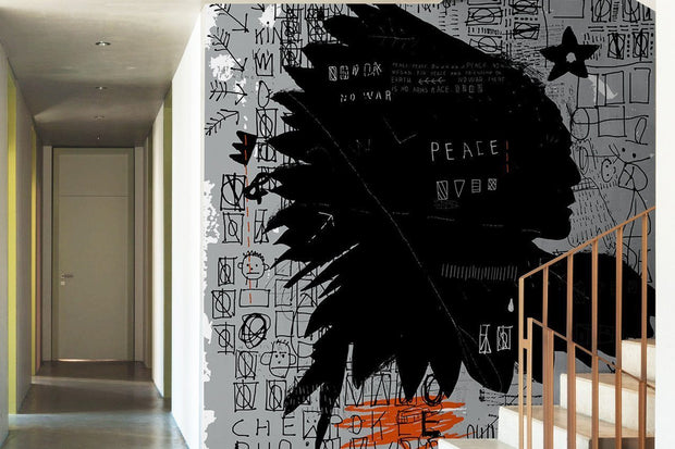 Native Grunge Art Wall Mural-Urban-Eazywallz