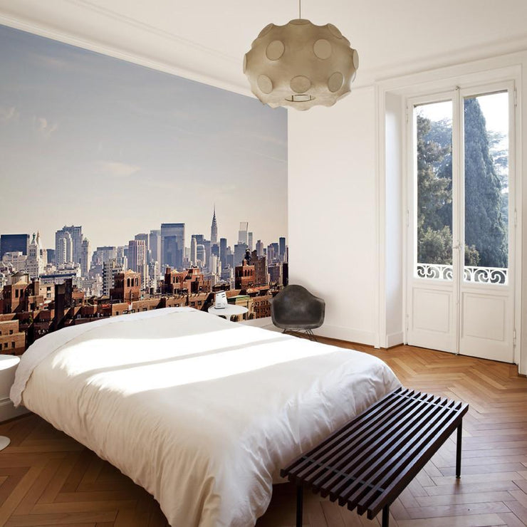 New York City skyline from Brooklyn Wall Mural-Cityscapes-Eazywallz