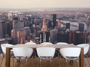 New York Cityscape Sunset Wall Mural-Cityscapes-Eazywallz