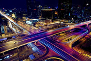 Night view of Beijing Wall Mural-Cityscapes,Urban-Eazywallz