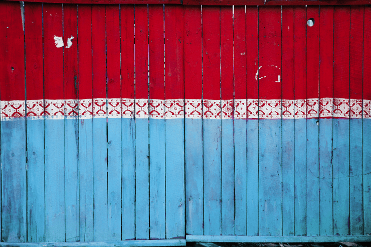 Old Multi-Coloured Fence Wall Mural-Textures-Eazywallz