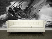 Old sailboat on the sea Wall Mural-Sports,Transportation-Eazywallz