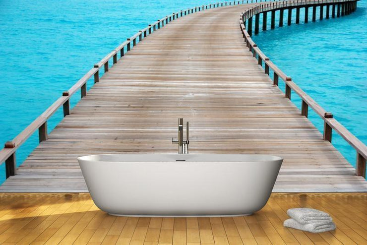 Old wooden jetty Wall Mural-Tropical & Beach-Eazywallz