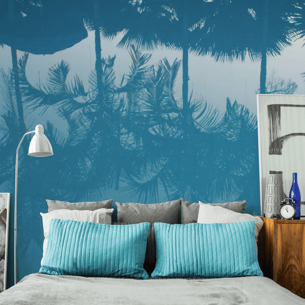 Palm Tree Pool Reflection Wall Mural-Tropical & Beach-Eazywallz