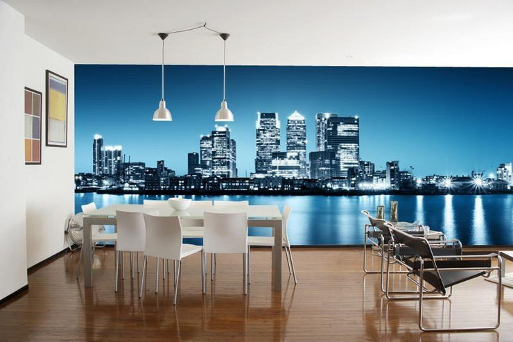 Panorama of Canary Wharf Wall Mural-Cityscapes,Panoramic-Eazywallz