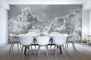 Panoramic Light Clouds Wall Mural-Landscapes & Nature,Panoramic-Eazywallz