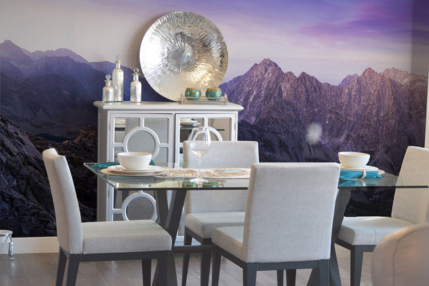 Panoramic Mountain Range Wall Mural-Landscapes & Nature-Eazywallz
