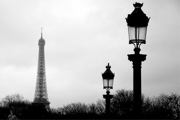 Paris Wall Mural-Black & White,Buildings & Landmarks,Cityscapes,Urban-Eazywallz