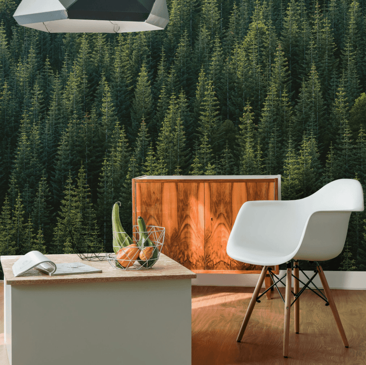 Perfect Tree Forest Line Wall Mural-Urban-Eazywallz