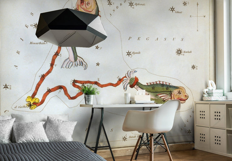 Pisces Wall Mural-astrology-Eazywallz