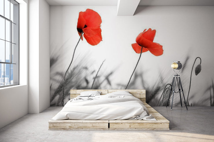 Poppy's field Wall Mural