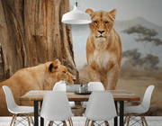 Queens of the Jungle Wall Mural-Animals & Wildlife-Eazywallz