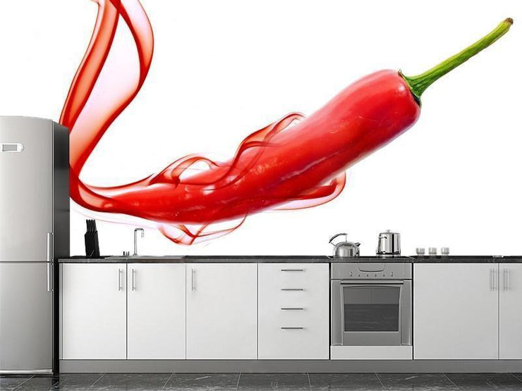 Red hot chili pepper wall Mural Wall Mural-Food & Drink-Eazywallz