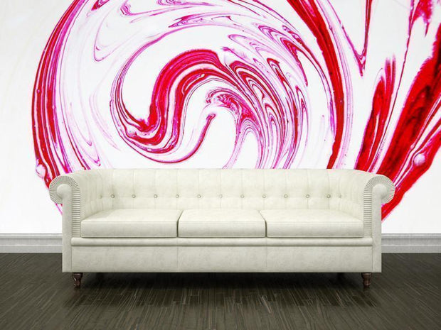 Red paint spiral Wall Mural-Abstract-Eazywallz