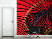 Red Umbrella Mural-Abstract,Macro,Zen-Eazywallz