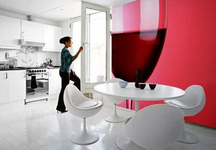 Red Wine Glass Wall Mural-Food & Drink-Eazywallz