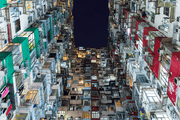 Residential Building in Hong Kong Wall Mural-Cityscapes-Eazywallz