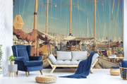 Retro Boats in France Wall Mural-Transportation-Eazywallz
