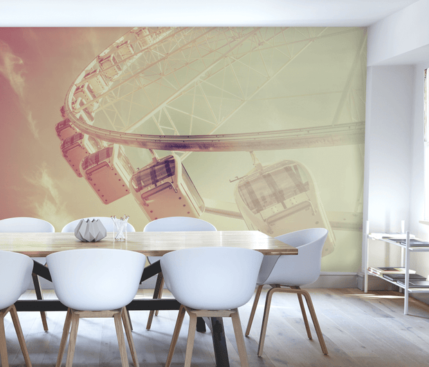 Retro Filter Ferris Wheel Wall Mural-Urban-Eazywallz