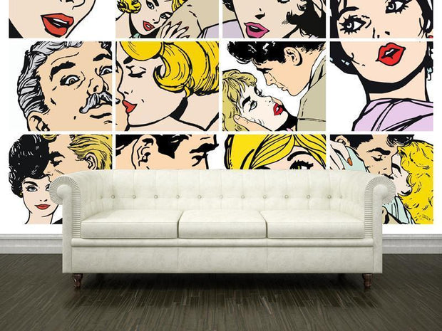 Retro illustrations Wall Mural-Vintage,Modern Graphics,Best Seller Murals-Eazywallz