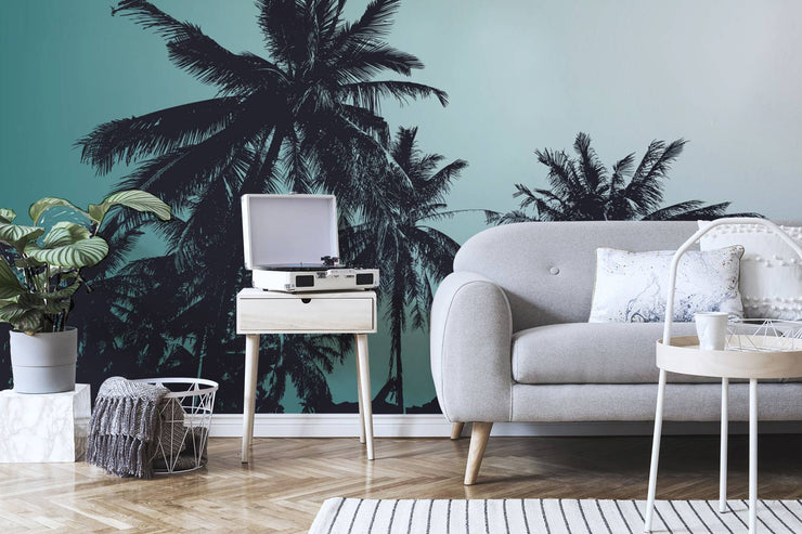 Retro Palm Trees Wall Mural
