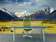 Road to the mountains Wall Mural-Landscapes & Nature-Eazywallz