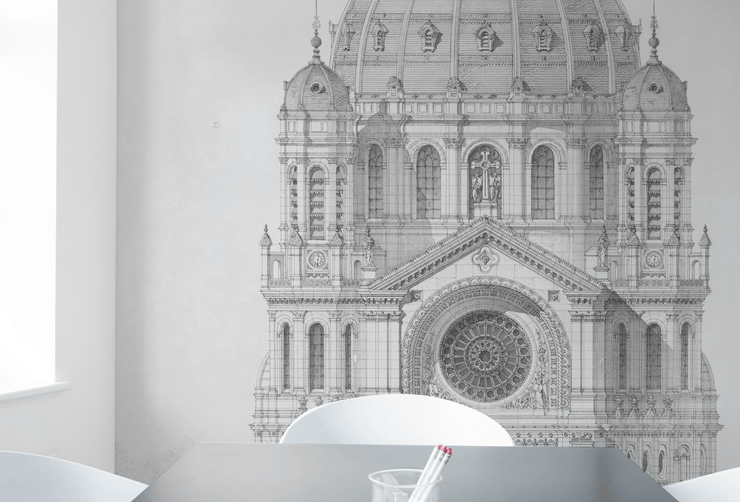 Saint Augustin Elevation Wall Mural-Textures-Eazywallz