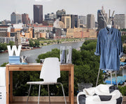 Saint Paul Skyline Wall Mural-Cityscapes-Eazywallz