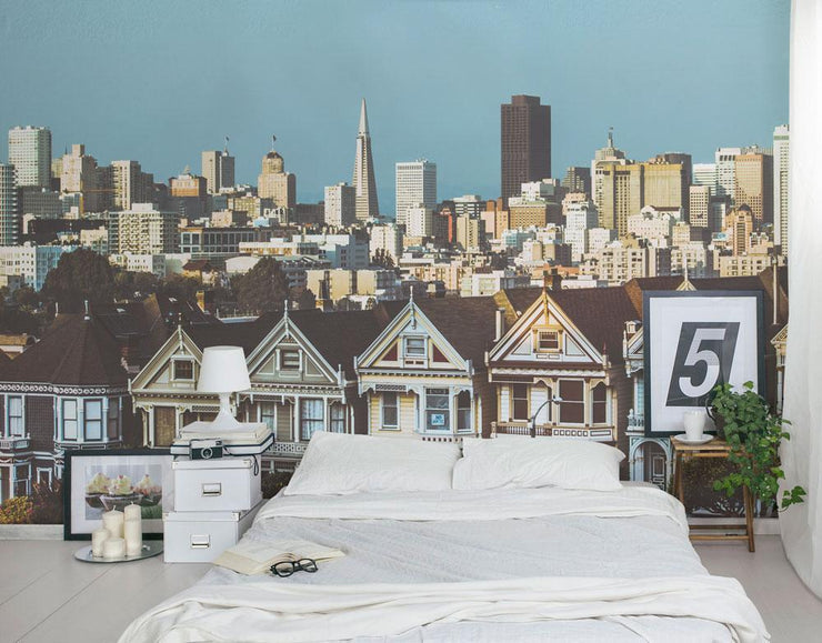 San Francisco City View Wall Mural-Cityscapes-Eazywallz