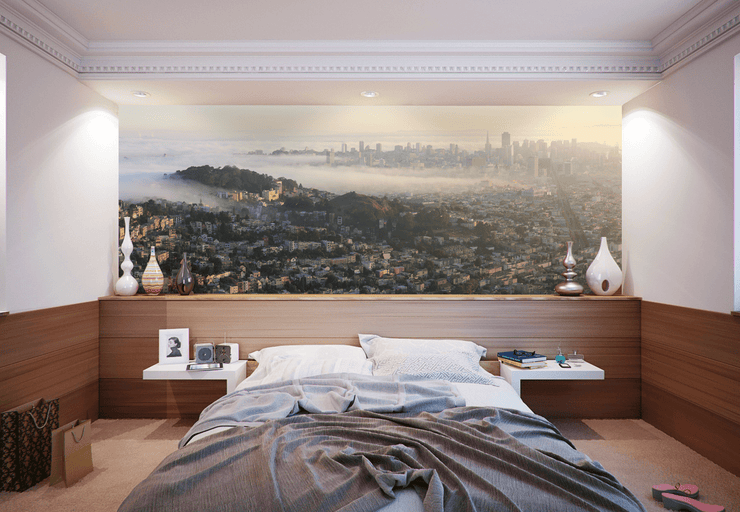 San Francisco Panoramic Skyline Wall Mural-Landscapes & Nature,Panoramic-Eazywallz