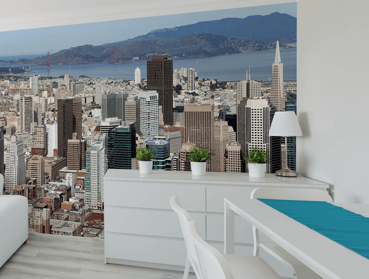 San Francisco Skyline Wall Mural-Cityscapes-Eazywallz