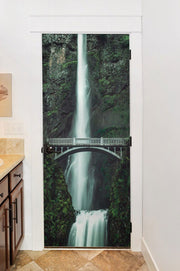 Scenic Oregon Waterfall Door Mural-Zen,Landscapes & Nature-Eazywallz