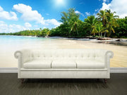 Sea and coconut palms Wall Mural-Tropical & Beach-Eazywallz