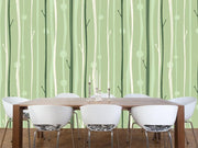 Serene forest pattern Wall Mural-Patterns-Eazywallz