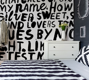Shakespeare Graffiti Quote Wall Mural-Modern Graphics,Words,Featured Category of the Month-Eazywallz