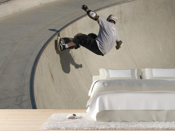 Skateboarder at skate park Wall Mural-Sports,Urban-Eazywallz