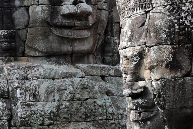 Smiling faces in Bayon temple, Cambodia Wall Mural-Buildings & Landmarks,Zen-Eazywallz