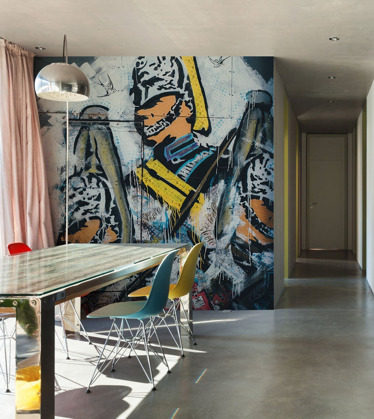 Soldier Graffiti Art Wall Mural-Urban-Eazywallz
