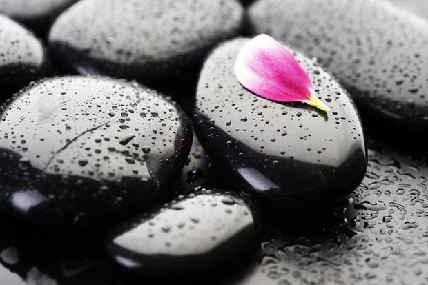 Spa wet stones Wall Mural-Zen-Eazywallz