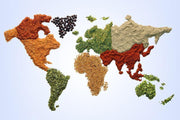 Spiced World Map Wall Mural-Food & Drink,Maps-Eazywallz