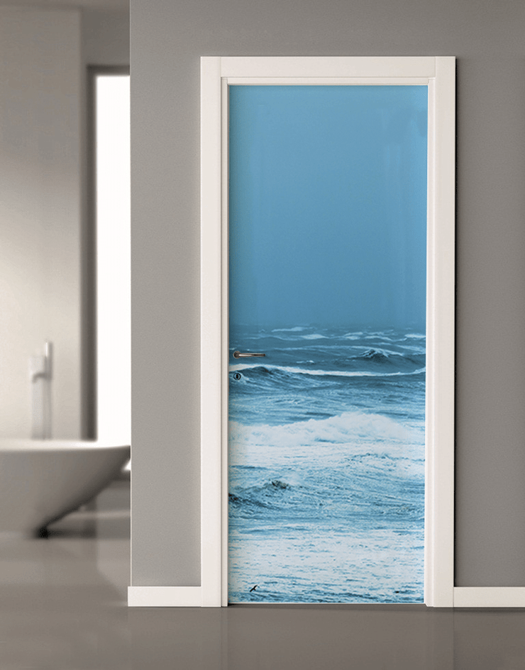 Storm Wave Door Mural-Landscapes & Nature-Eazywallz