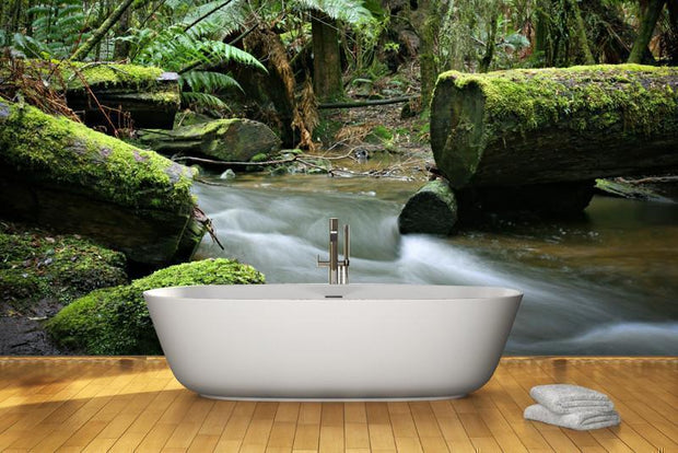 Stream in the rainforest Wall Mural-Landscapes & Nature-Eazywallz