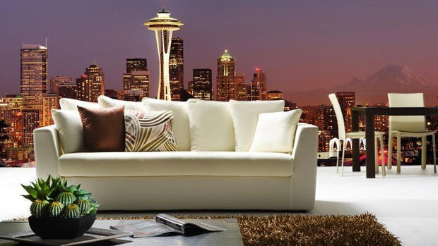 Striking Panorama of Seattle Skyline Wall Mural-Cityscapes,Panoramic-Eazywallz
